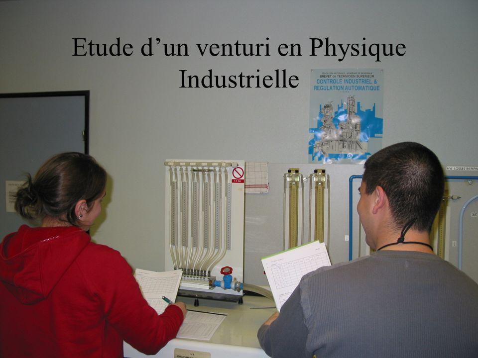Etude d'un venturi en Physique Industrielle