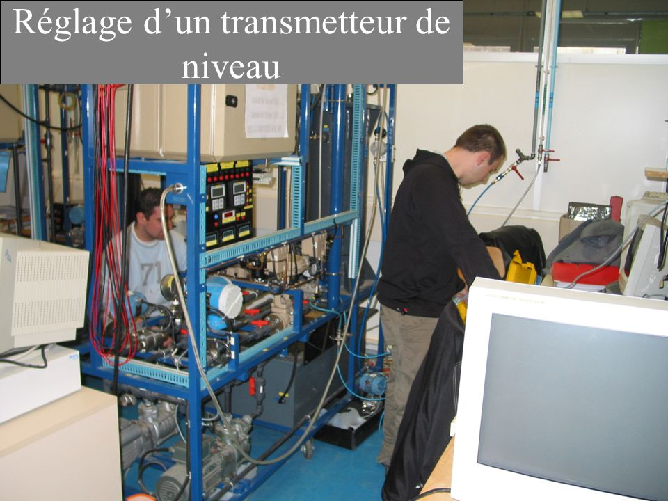 Réglage d'un transmetteur de niveau