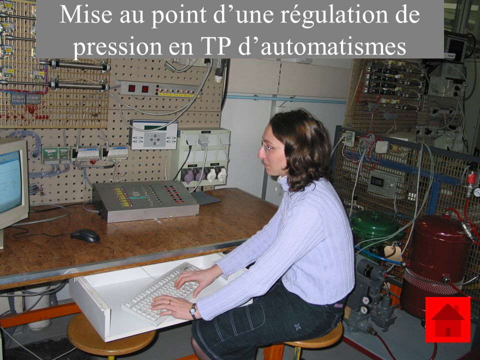 Mise au point d'une régulation de pression en TP d'automatismes