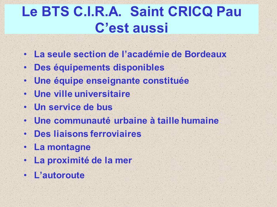 Le BTS C.I.R.A. Saint CRICQ Pau C'est aussi