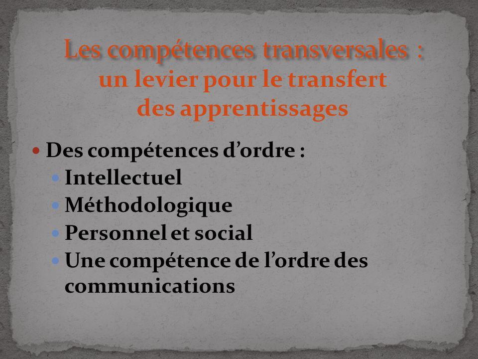 Les compétences transversales : un levier pour le transfert des apprentissages