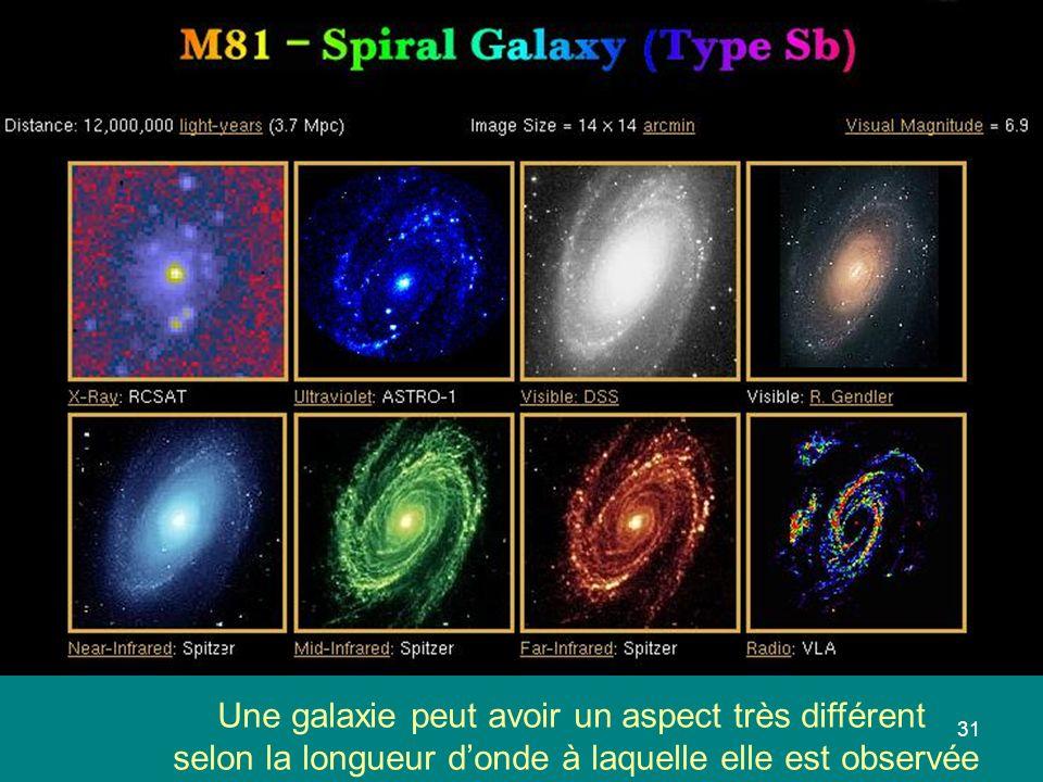 Une galaxie peut avoir un aspect très différent