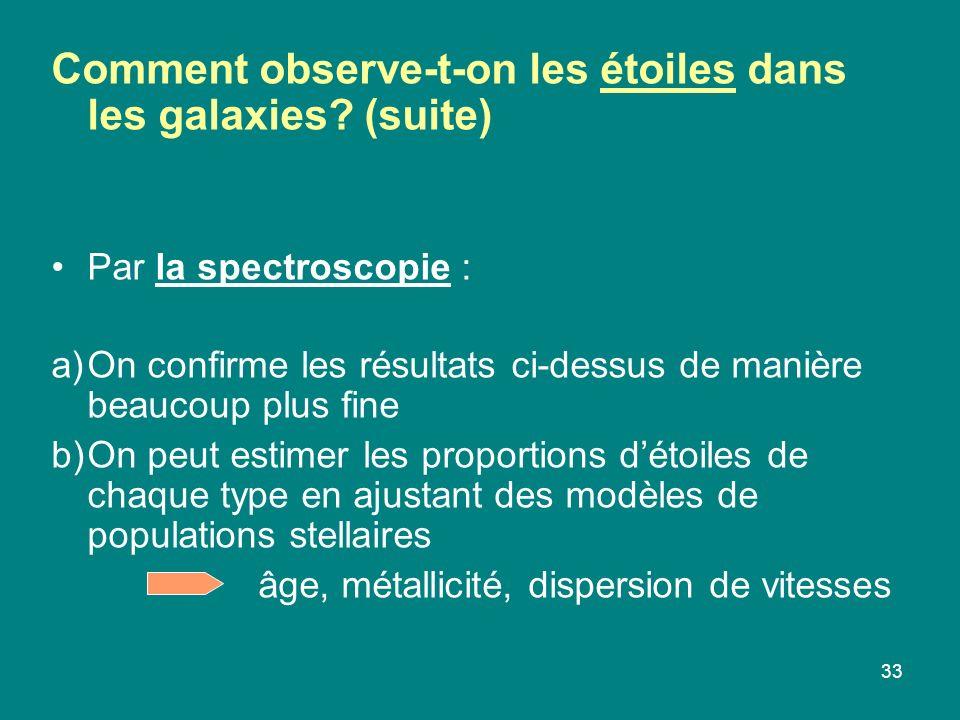 Comment observe-t-on les étoiles dans les galaxies (suite)