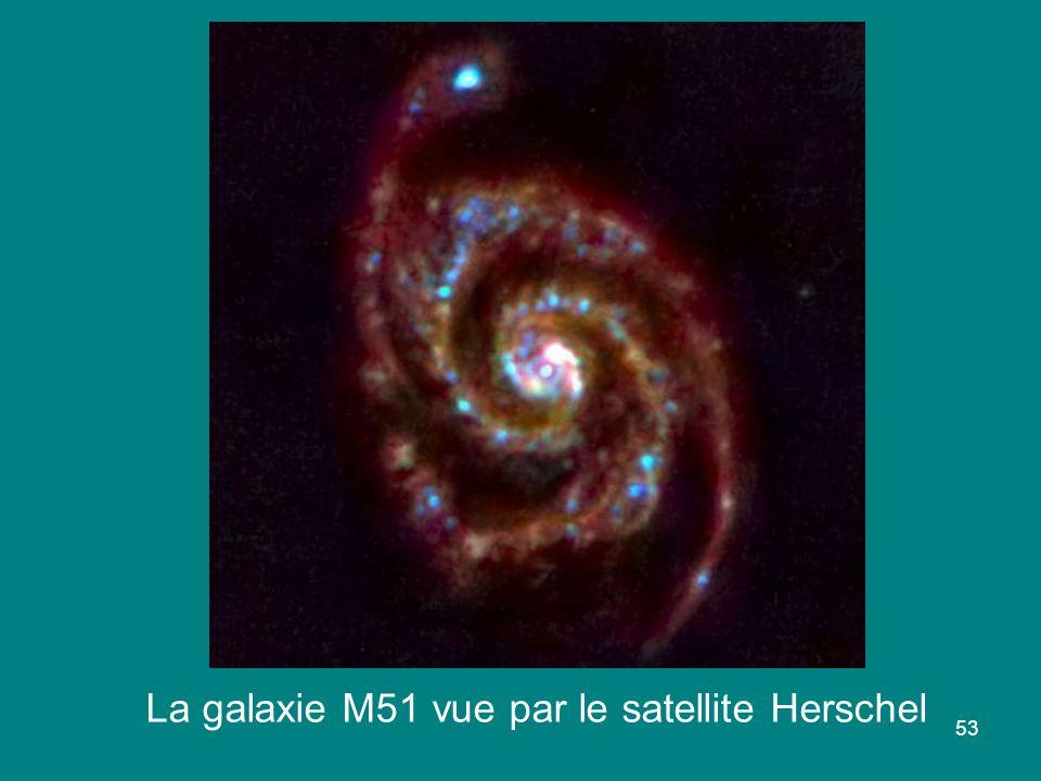 La galaxie M51 vue par le satellite Herschel