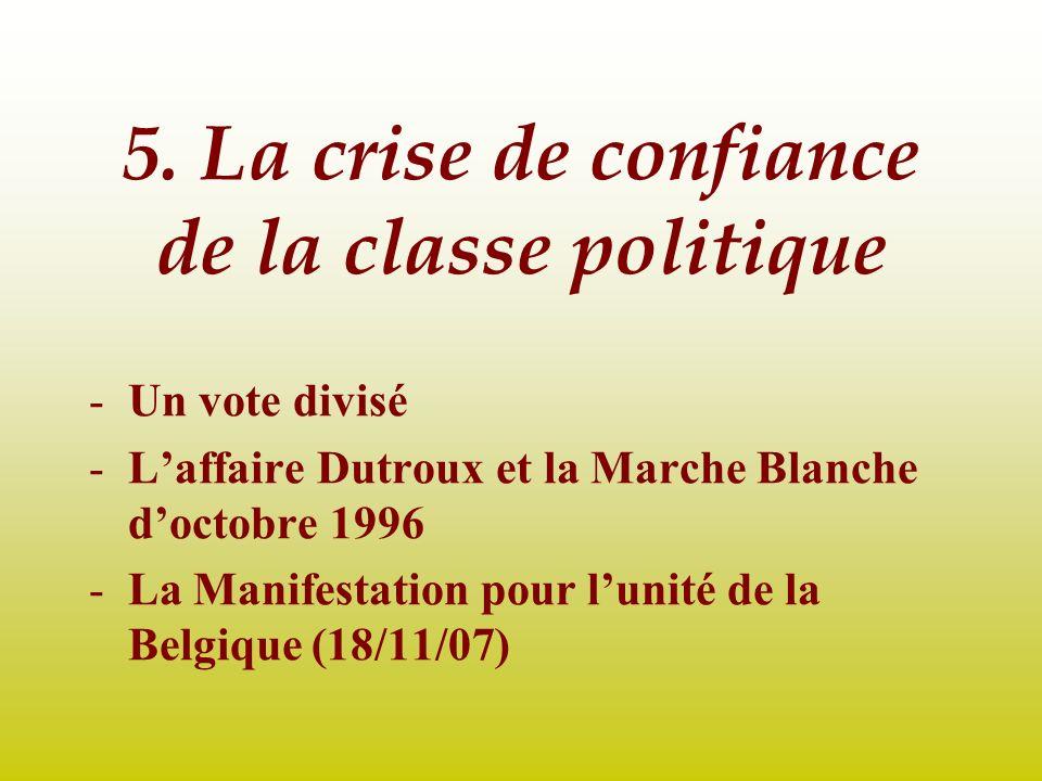 5. La crise de confiance de la classe politique