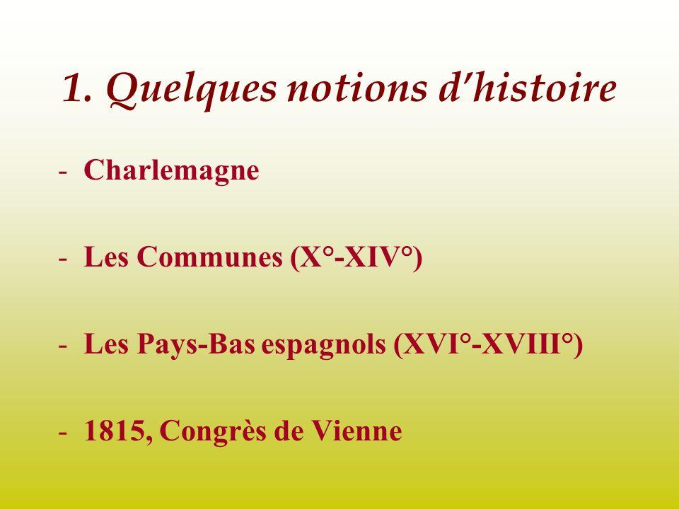 1. Quelques notions d'histoire
