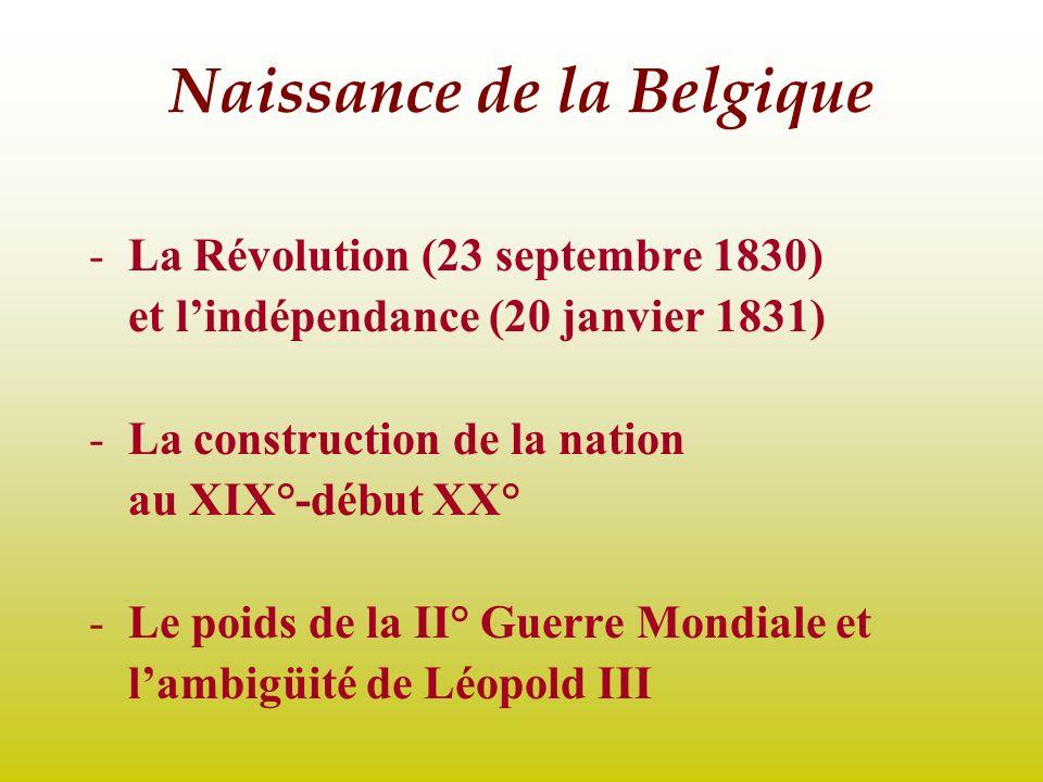 Naissance de la Belgique