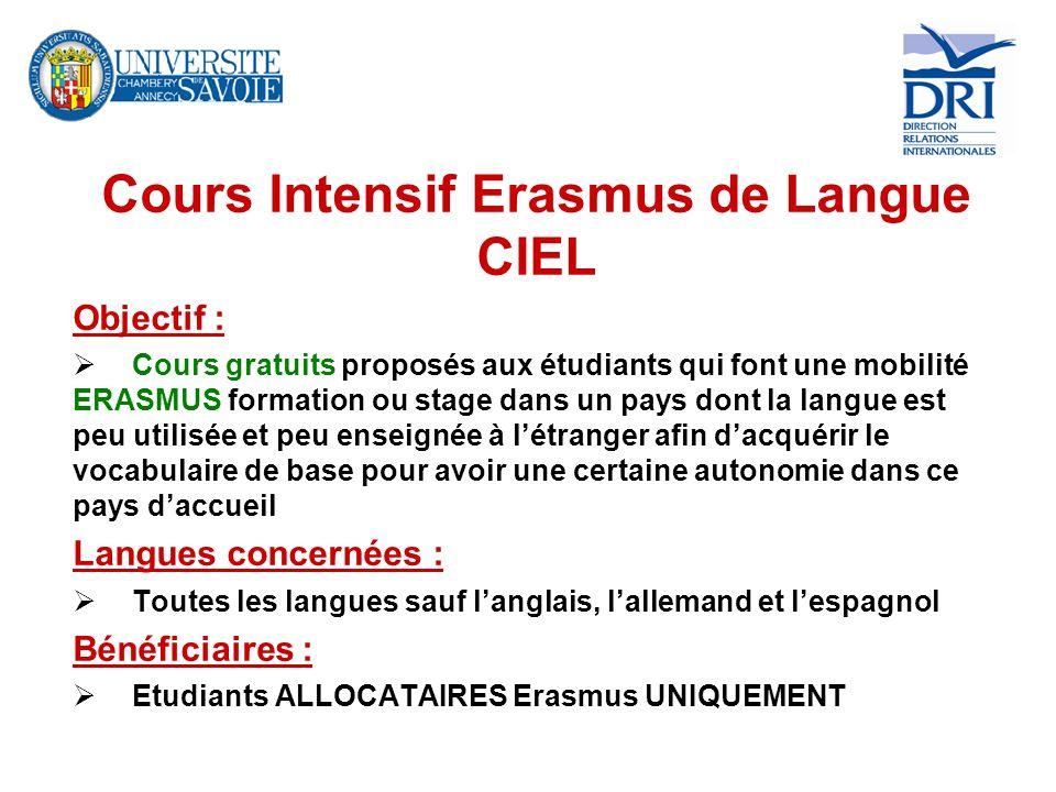 Cours Intensif Erasmus de Langue CIEL