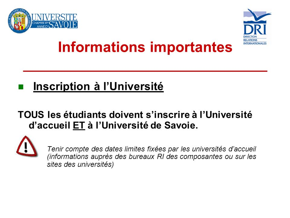 Informations importantes __________________________________