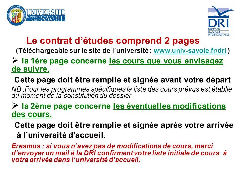 (Téléchargeable sur le site de l'université : www.univ-savoie.fr/dri )