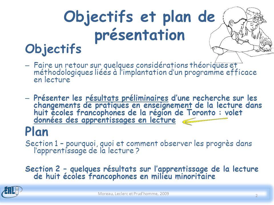 Objectifs et plan de présentation