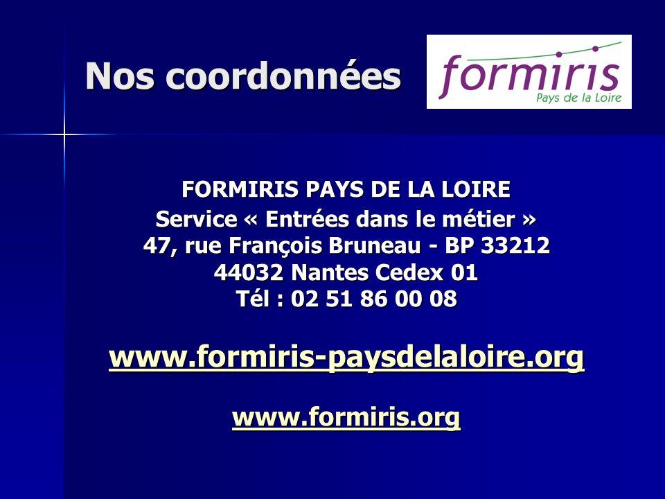 Nos coordonnées www.formiris-paysdelaloire.org www.formiris.org
