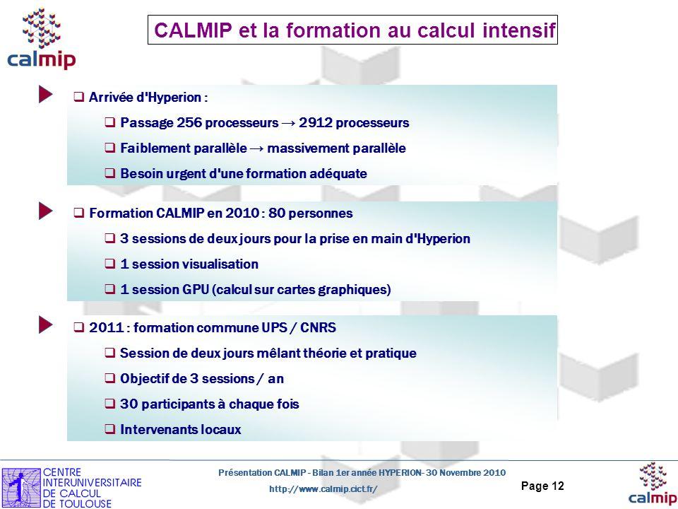 CALMIP et la formation au calcul intensif