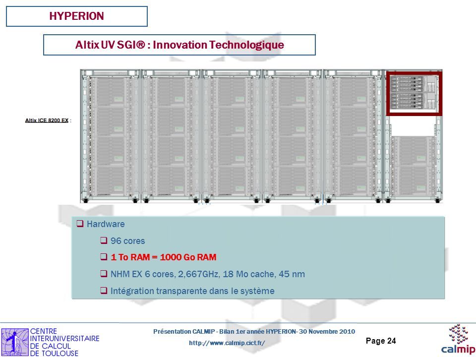 Altix UV SGI® : Innovation Technologique