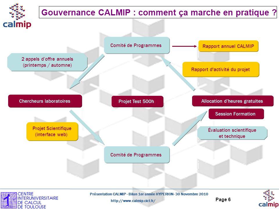 Gouvernance CALMIP : comment ça marche en pratique