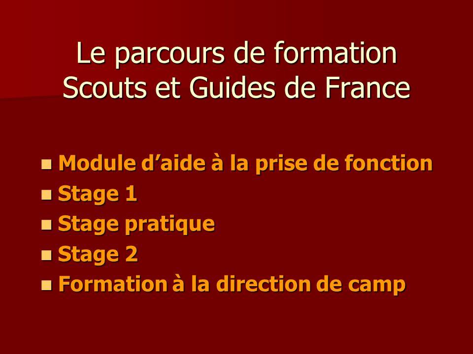 Le parcours de formation Scouts et Guides de France