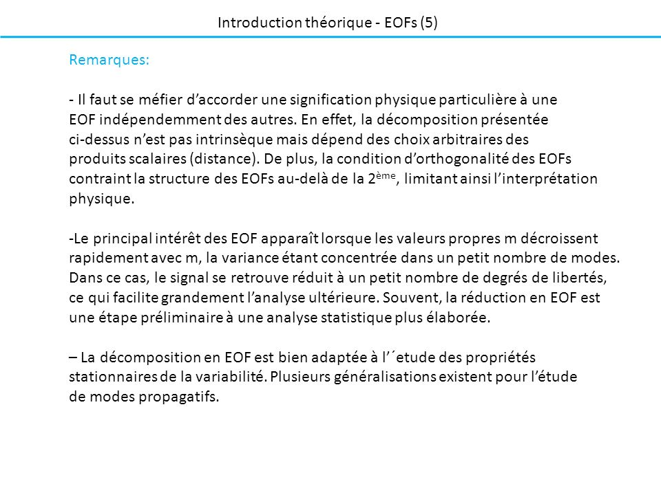 Introduction théorique - EOFs (5)