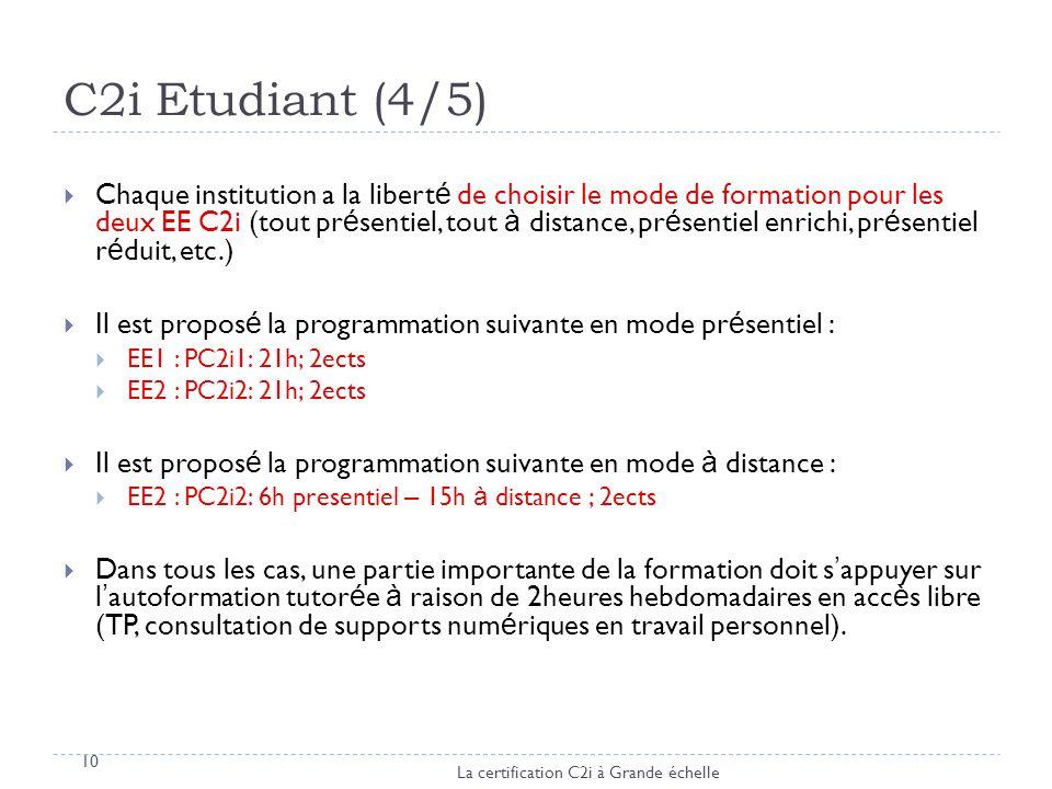 C2i Etudiant (4/5)