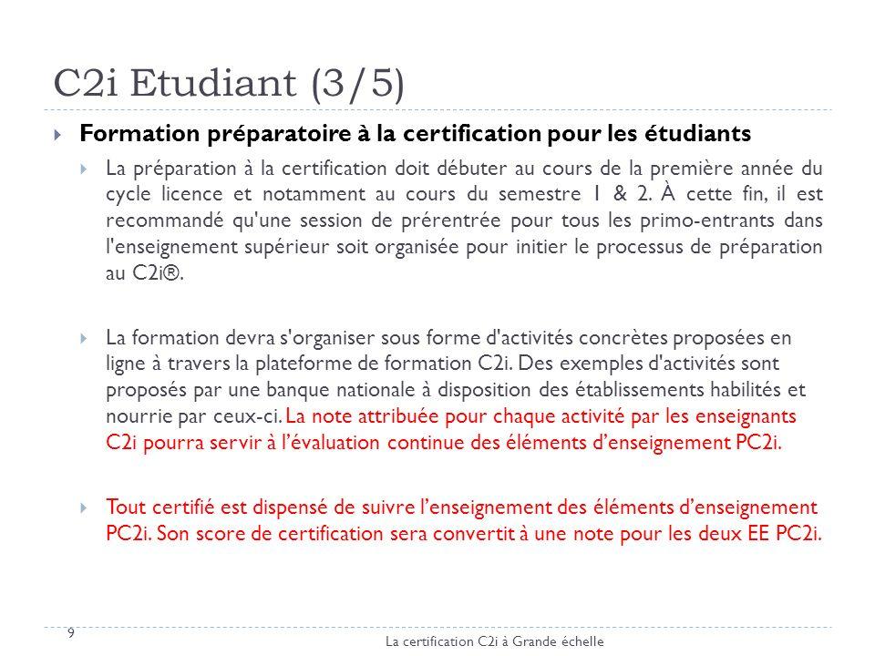 C2i Etudiant (3/5) Formation préparatoire à la certification pour les étudiants.