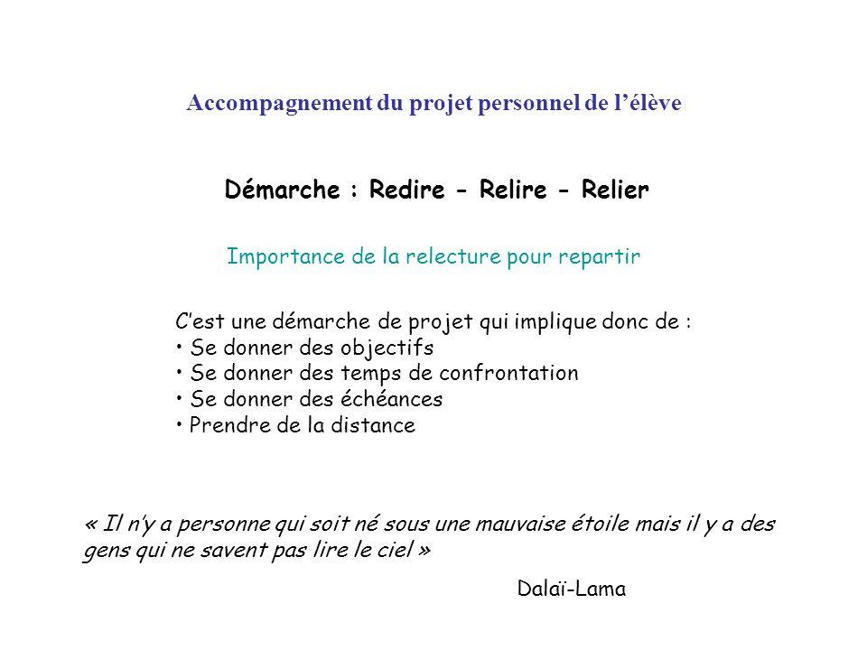 Accompagnement du projet personnel de l'élève