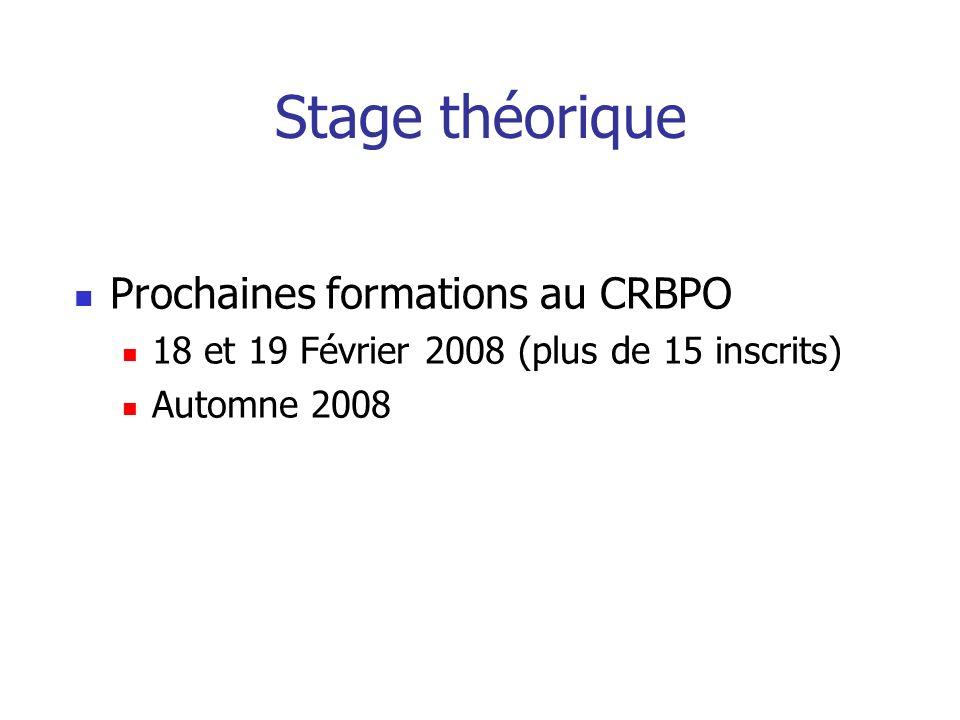 Stage théorique Prochaines formations au CRBPO