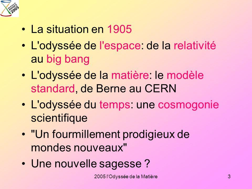 L odyssée de l espace: de la relativité au big bang