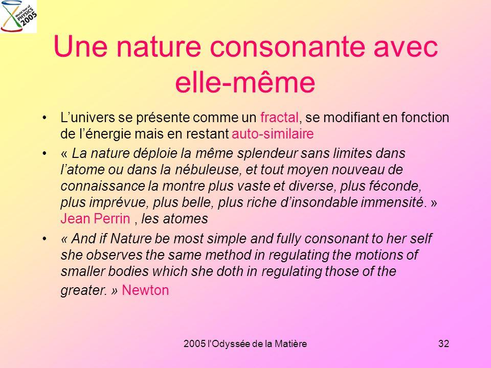 Une nature consonante avec elle-même