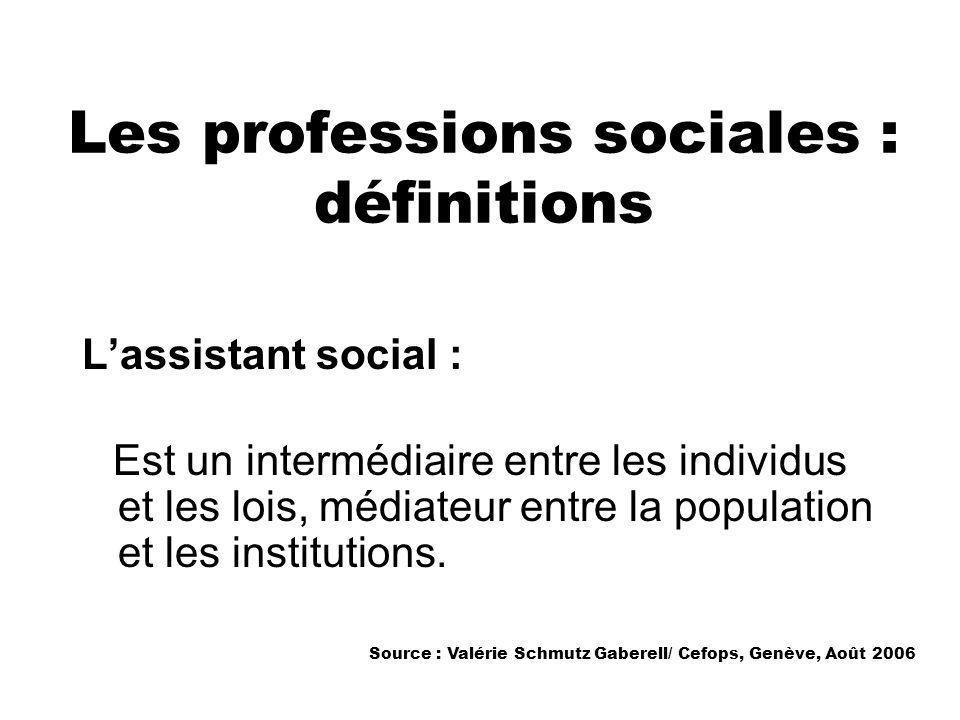 Les professions sociales : définitions