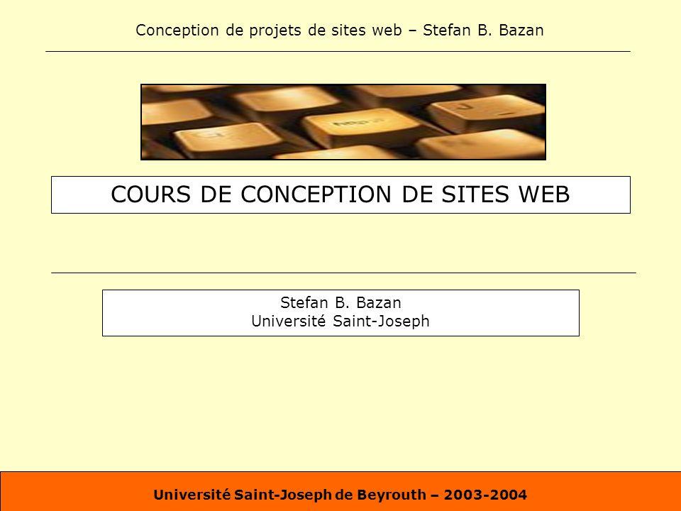 COURS DE CONCEPTION DE SITES WEB