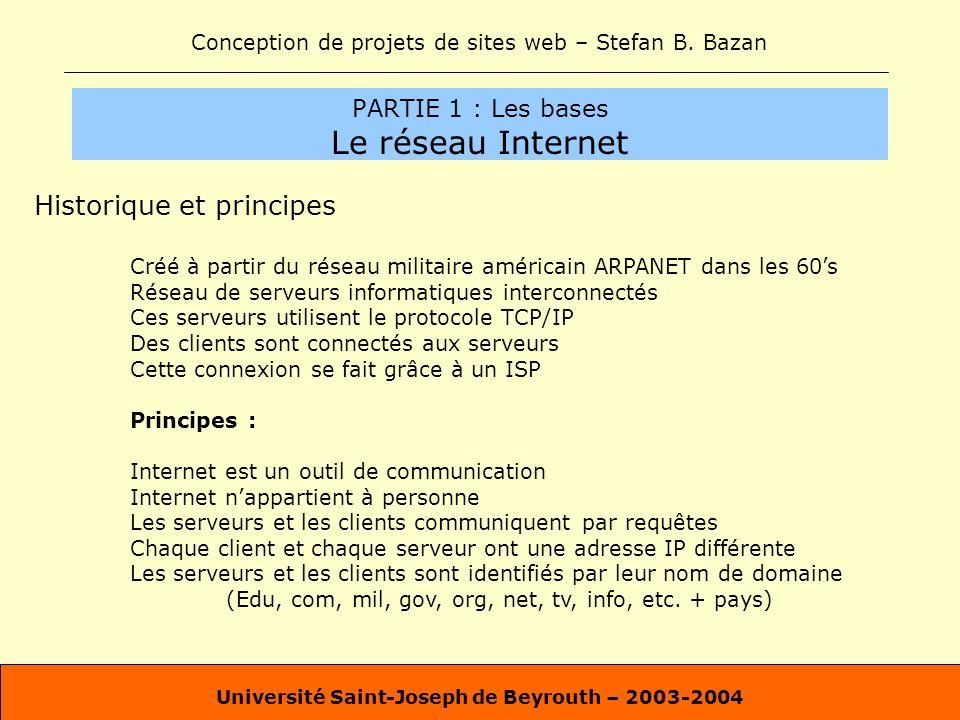 PARTIE 1 : Les bases Le réseau Internet
