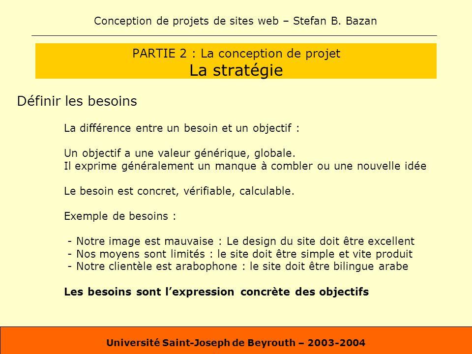 PARTIE 2 : La conception de projet La stratégie