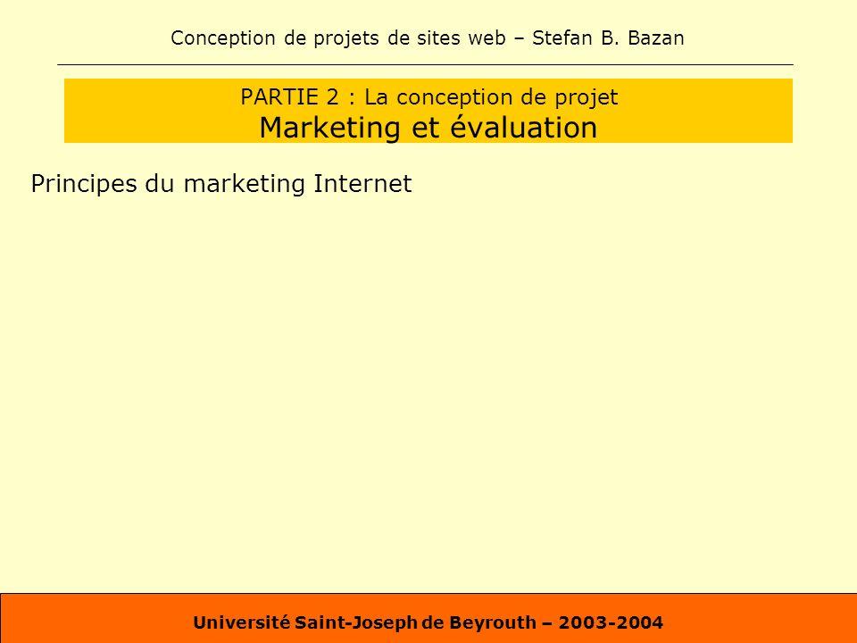 PARTIE 2 : La conception de projet Marketing et évaluation