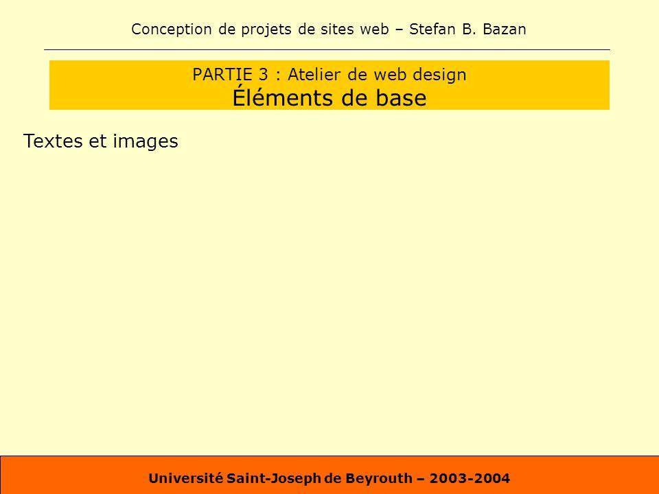 PARTIE 3 : Atelier de web design Éléments de base