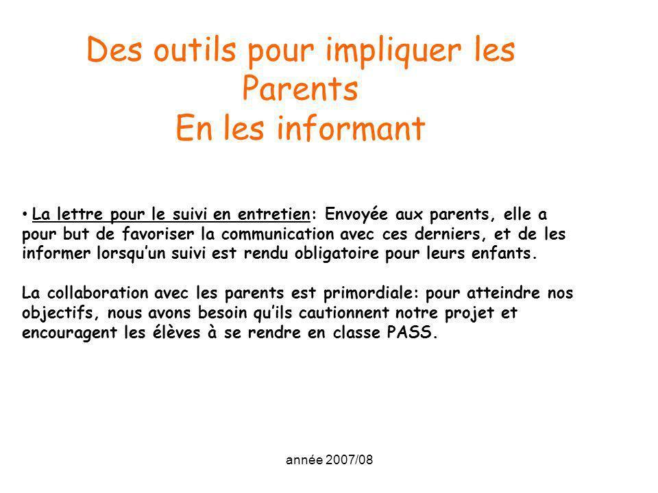 Des outils pour impliquer les Parents
