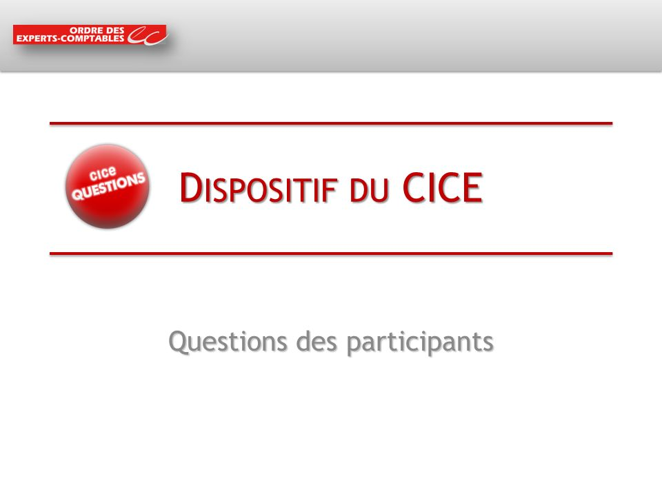 Questions des participants