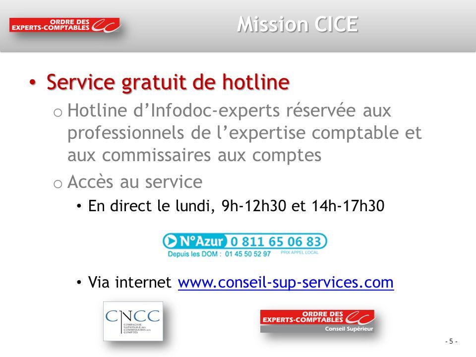 Service gratuit de hotline