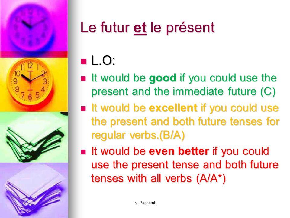 Le futur et le présent L.O: