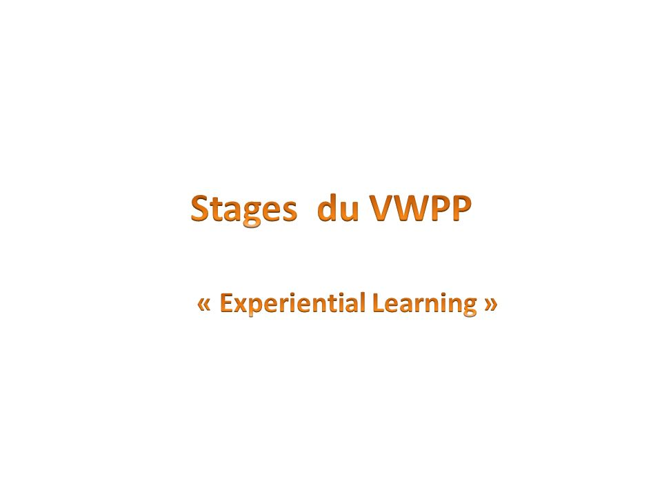 « Experiential Learning »