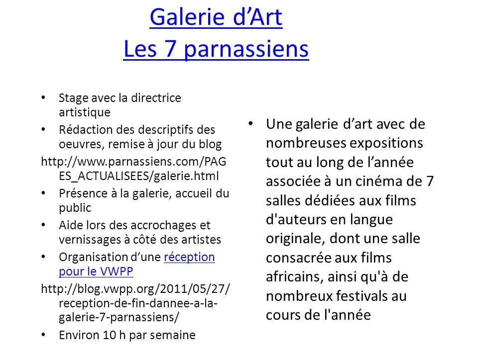 Galerie d'Art Les 7 parnassiens