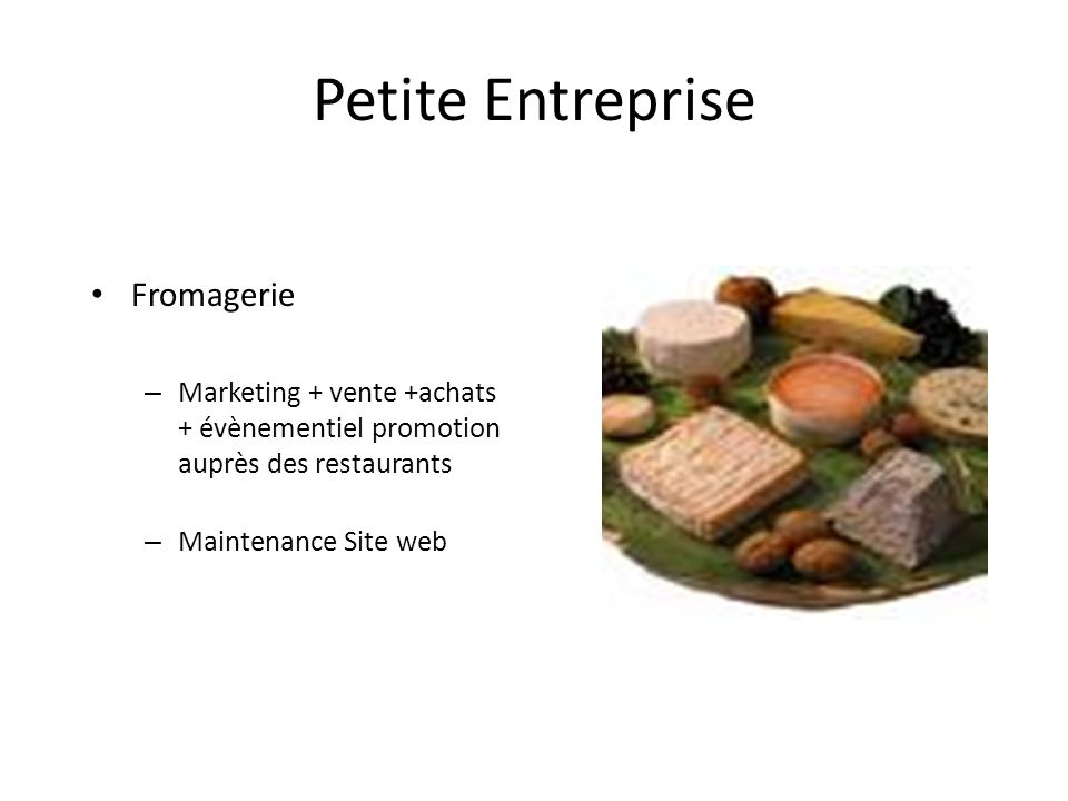 Petite Entreprise Fromagerie