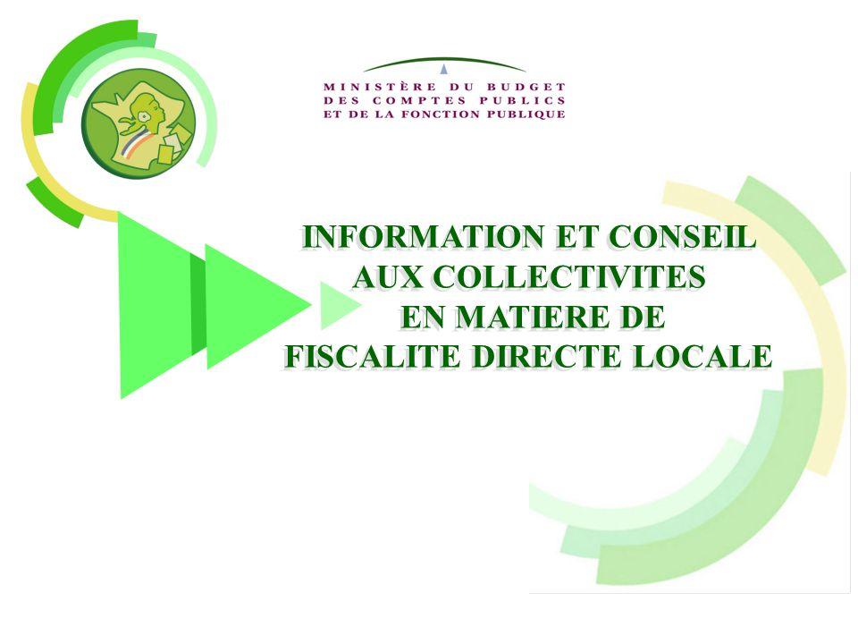 INFORMATION ET CONSEIL FISCALITE DIRECTE LOCALE