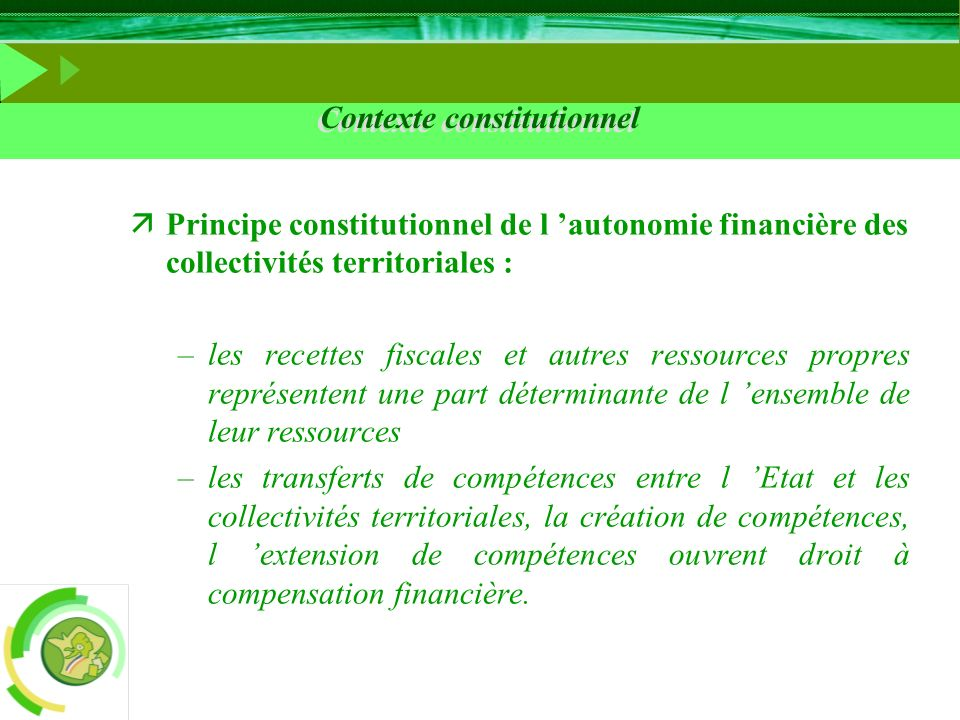 Contexte constitutionnel