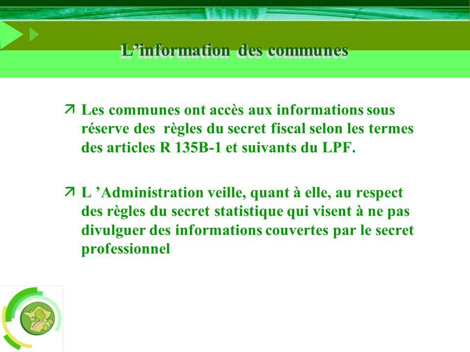 L'information des communes