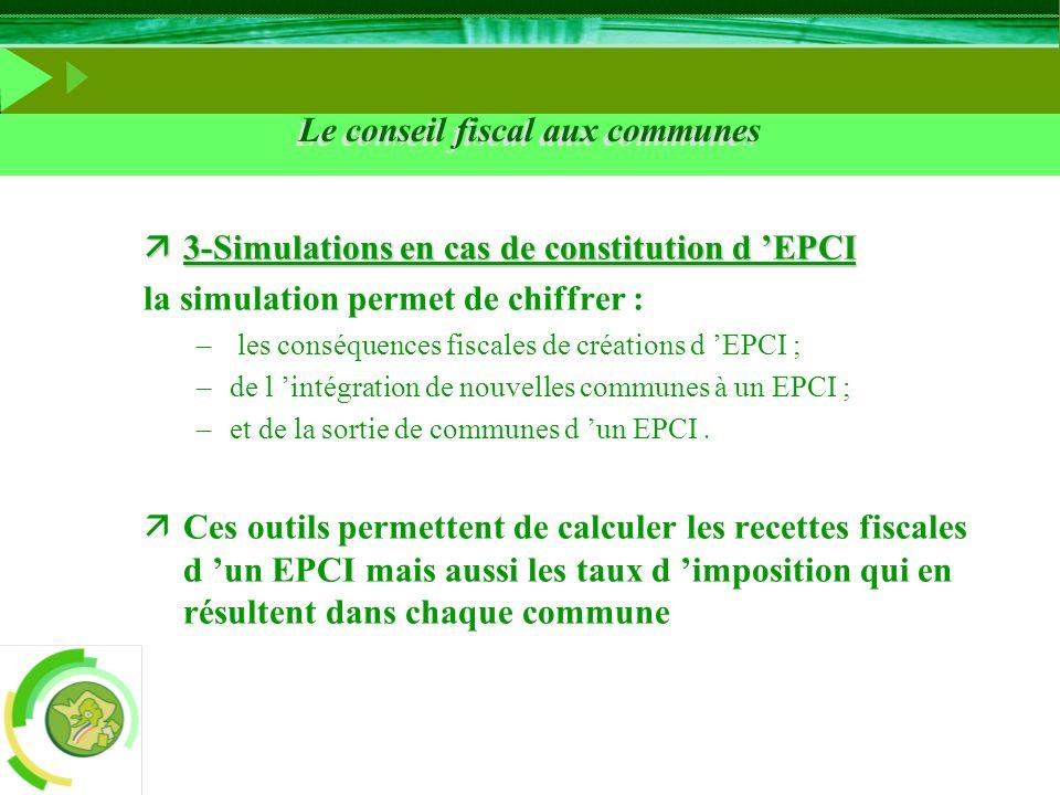 Le conseil fiscal aux communes