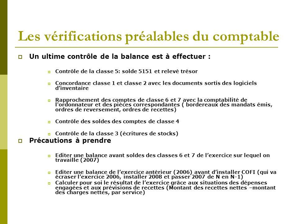 Les vérifications préalables du comptable