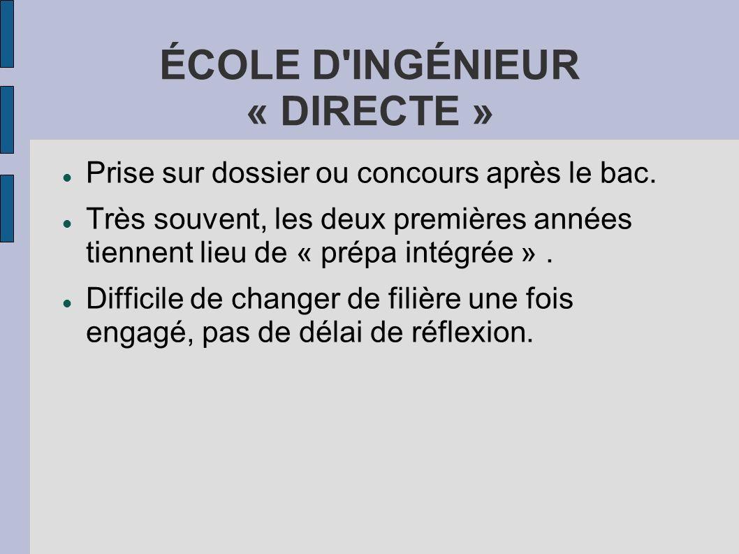ÉCOLE D INGÉNIEUR « DIRECTE »