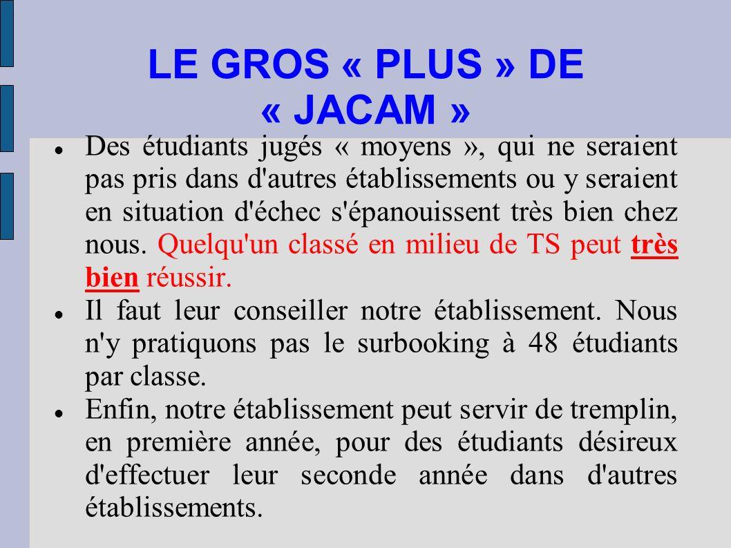 LE GROS « PLUS » DE « JACAM »
