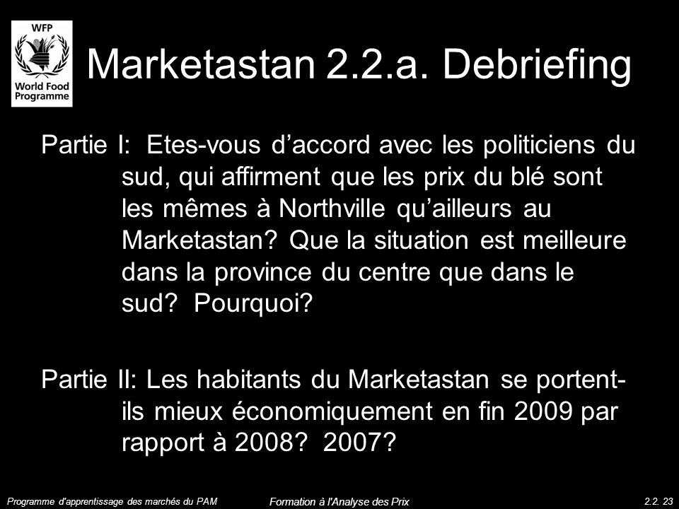 Marketastan 2.2.a. Debriefing