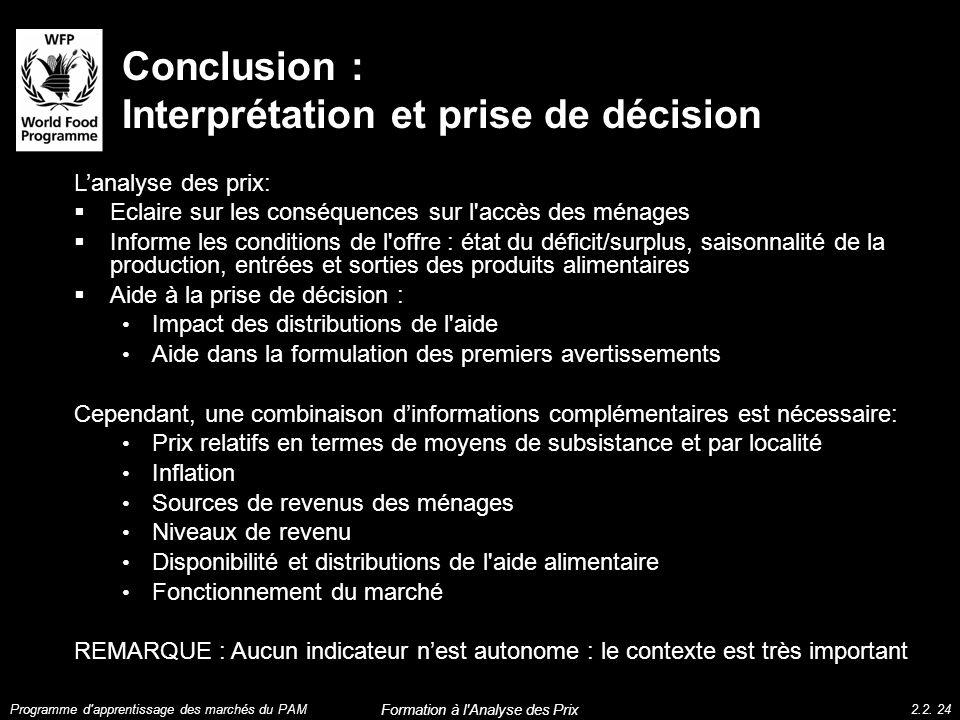 Conclusion : Interprétation et prise de décision