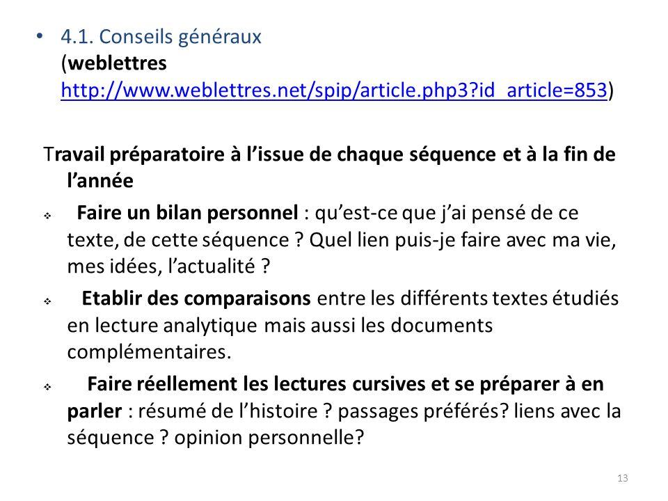 4. 1. Conseils généraux (weblettres http://www. weblettres